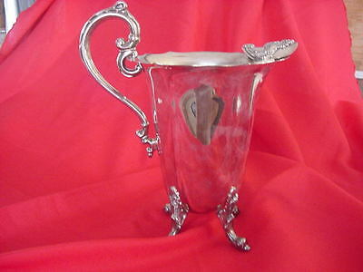 Antique Raimond Silverplate Water Tea Pitcher Vintage Ice Guard Old Silver Plate