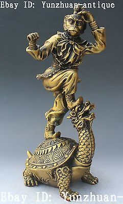 Bronze Great Sage Equalling Heaven SunWuKong Monkey King Dragon Turtle Statue