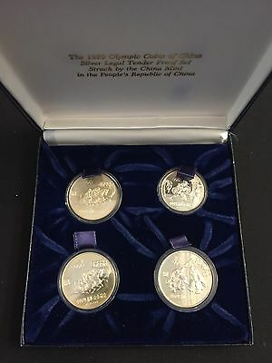 1980 Olympic Coins Of China Silver Proof Set With Original Box