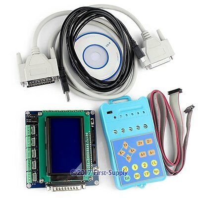 5Axis CNC Breakout Board Set + Display + KeyPad For MACH3 CNC Control Software
