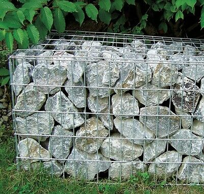Gabion Stone cage grill basket galvanised 500x1000x300mm fence 150L