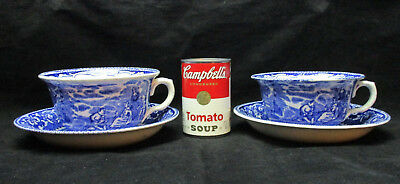 Antique R&M JUMBO OVERSIZE Joke Cup and Saucer, Set of 2