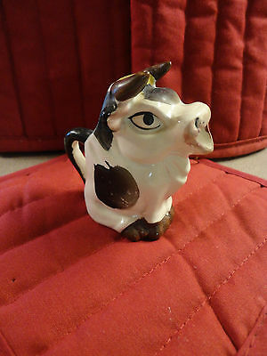 Vintage Brown White Cow Creamer - Individual Serving Small -
