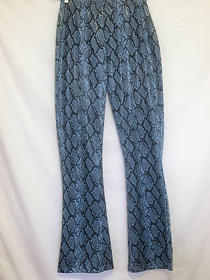 Vintage 1980's Ann Taylor snakeskin scales prints light pants blue size M