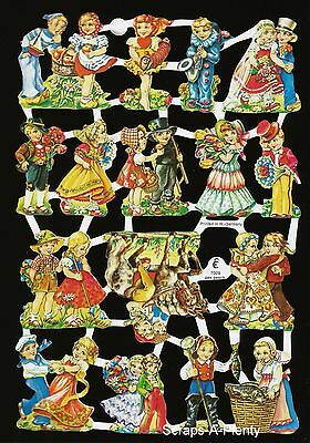 German Victorian Style Embossed Scrap Die Cut - Wonderful Children WOW   EF7009