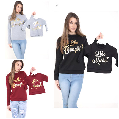 Family Matching Clothes Sets Like Mother Like Daughter Matching Sweatshirt Top