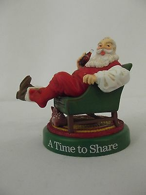 COCA-COLA Christmas Tree Ornament Coke 1990 * A Time to Share * Santa in a Chair