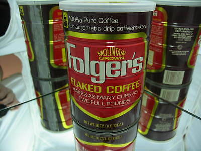 Folger's Mountain Grown Flaked Coffee 1 Lb. 10 Oz. Vintage can