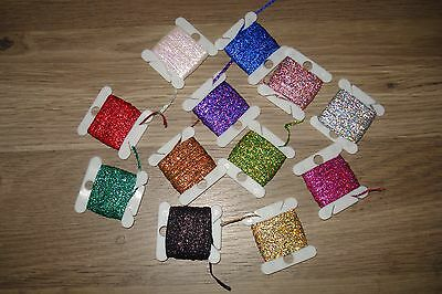Holographic metallic braid 46 cards different butt wraps rod building CHEVRONS