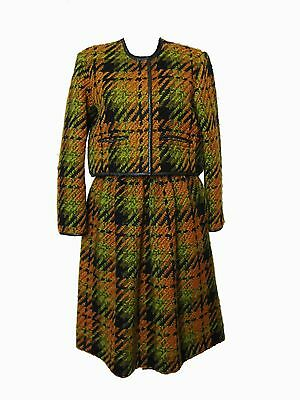 Bonnie Cashin Sills Bolero Jacket & Skirt Suit 2pc Wool Saks 5th Avenue 60s S
