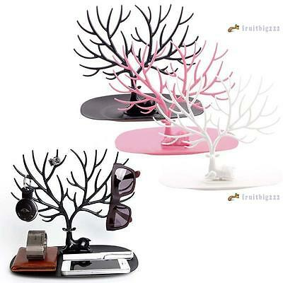 Retro Deer Tree Jewelry Earrings Ring Stand Holder Show Rack Necklace Display GM
