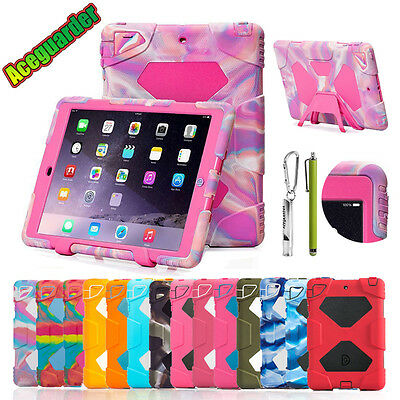 For iPad 6th Gen 9.7 2018/5th 2017 Mini Air Case Kids SHOCKPROOF Defender Rugged