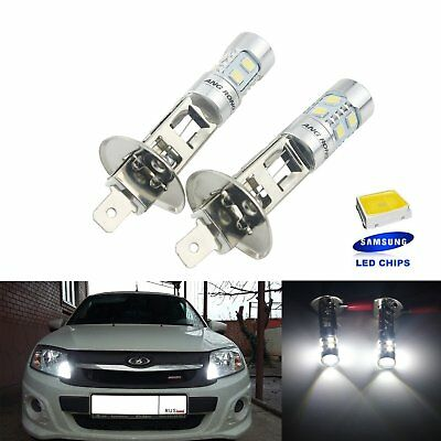 2x H1 10 SMD 2835 White 6000k SAMSUNG LED Headlight High Main Beam Daytime Light