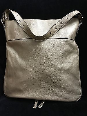 2b5cd92dde28 AUTHENTIC CHANEL METALLIC Gold Hollywood Perforated Leather Hobo Bag ...