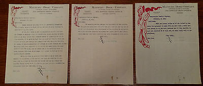 1903 Vintage Mayburn Book Co., Chicago, Illinois Letterheads