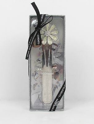 Philosophy Bookmark Flower Silver Metal Made with Swarovski Elements New In Box