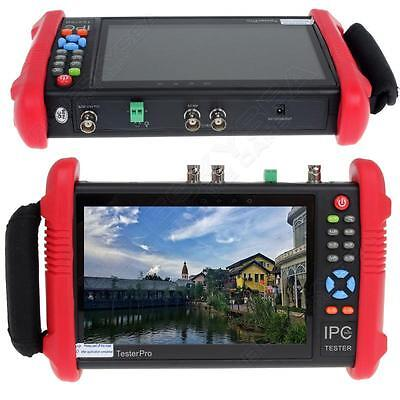 "IPC9800ADH 7"" Touch TFT-LCD Analogy TVI CVI AHD CVBS IP HD 5.0MP Cam CCTV Z49"