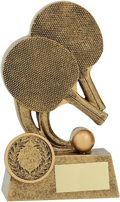 Table Tennis Ping Pong Trophy 120mm Engraved FREE