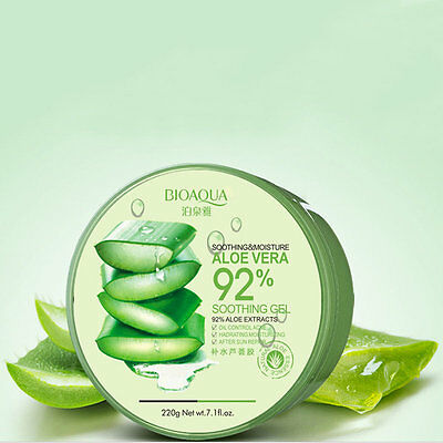 HOT! Natural Fresh Cool Moisturiser Kill Bacteria Soothe Skin Aloe Vera Gel OO