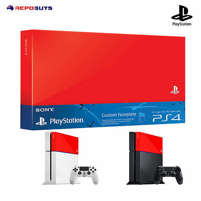 PS4 Custom Faceplate Genuine Sony PlayStation 4 Faceplate HDD Cover Red