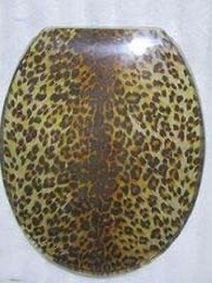 Loo with a View - Leopard Print Poly Resin Decor Toilet Seat, EU127