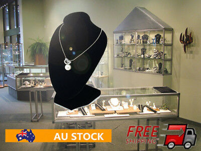 Multifunctional Chain Jewellery Necklace Display Holder Neck Bust Velvet Stand O