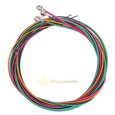 4pcs Electric Bass Strings Hexagonal Core Nickel Alloy Wound  Colorful