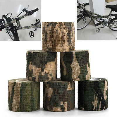 5cm x4.5m Bande de Camouflage Outdoor Chasse Camping Stealth Camo Wrap Tape