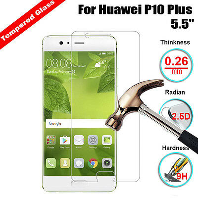 9H+ Premium Tempered Glass Film Screen Protector Cover For Huawei P10 Plus 5.5""