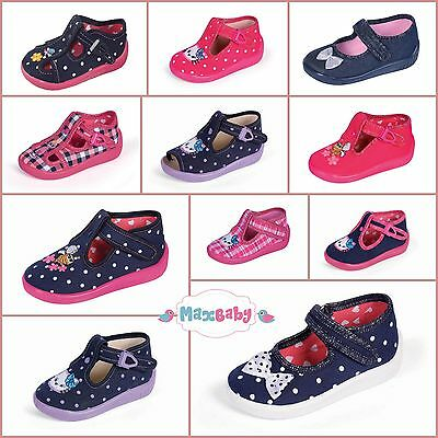Slippers for Girls Kids Nursery Autumn Winter Shoes LEATHER Insole Size UK 3.5–7