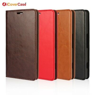 Luxury Genuine Leather Wallet Flip Case Stand Cover For Microsoft Lumia 950
