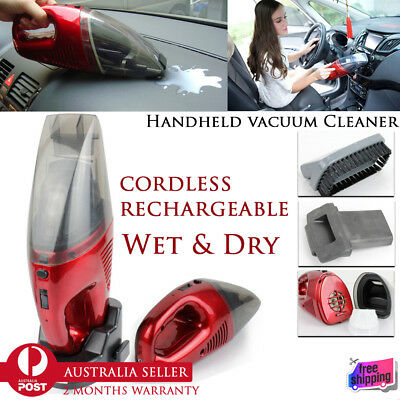 Handheld Rechargeable Wet Dry Portable Cordless Vacuum Cleaner Car Home Office