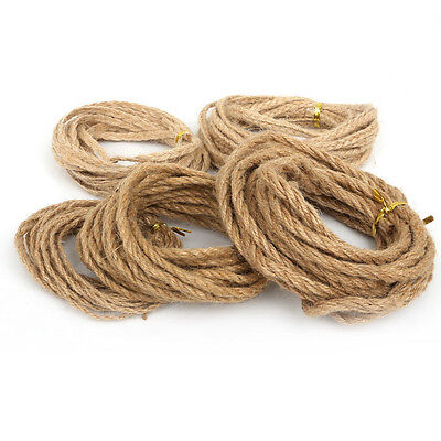 5Meter/roll Cord Hemp Jute Rope New Natural Twine Gift Packing