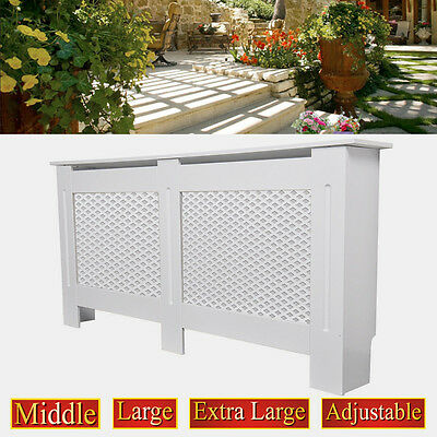 Oxford Radiator Cover White Traditional MDF Wood Cabinet Grill Furniture Size UK
