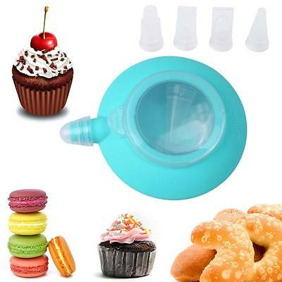 Kitchen Decor Tip Sets Silicone Cake Muffin Macaroon Piping Icing Baking Tool