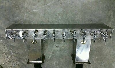 Perlick 10 Spigot Stainless Steel Glycol Ready Beer Tower