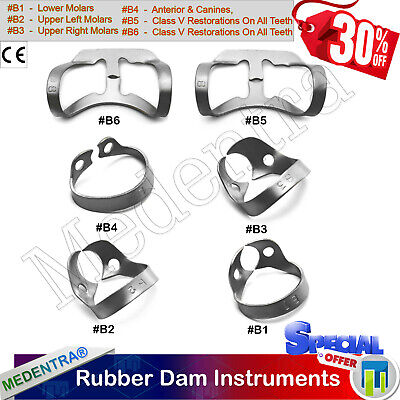 Dental Universal Rubber Dam Brinker Clamp Upper Lower Anterior Tissue Retractors