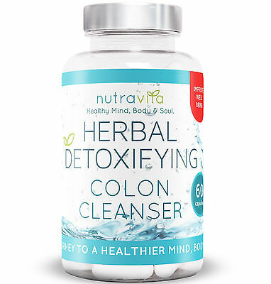 Colon Cleanse Herbal Detox by Nutravita UK Manufactured Highest Quality Cleanse
