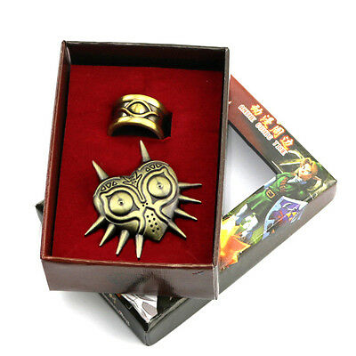 The Legend of Zelda Owl  Symbols Badge And Gold Ring Wearable Cosplay Set