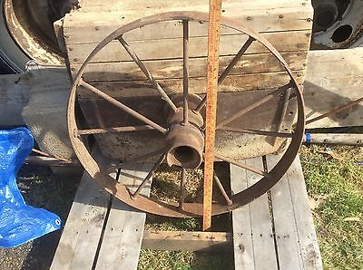 Antique Metal Wheel , Very Industrial Steampunk , 12 Spoke , Garden Decor