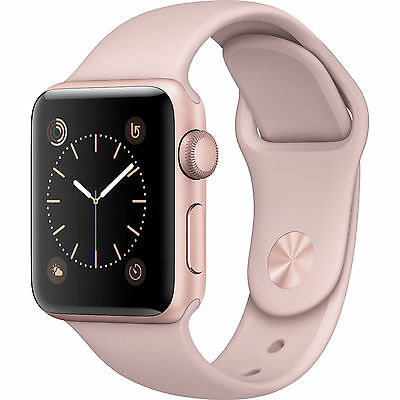 Apple Watch Series 1 38mm Rose Gold Aluminum Case Pink Sport Band - (MNNH2LL/A)