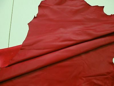Fine Italian nappa leather Lightweight 0.5mm Red Soft smooth BARKERS HIDES 271R