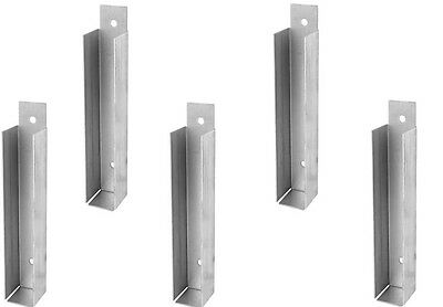 Galvanised Gravel Board Fence Clip 25mm x 2 Pairs Fencing garden panels fixings