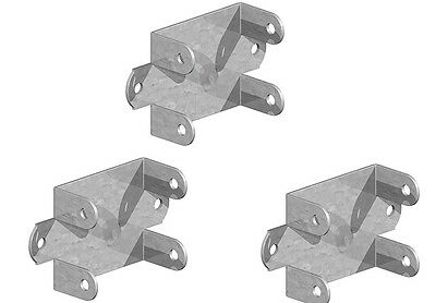 Galvanised Easy Use Fence Panel Clip 47mm x 50mm. x 5 attach to fence post