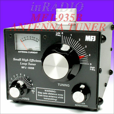 MFJ-935B 150W LOOP ANTENNA TUNER 5.3-30MHz CURRENT METER + WORLDWIDE DELIVERY