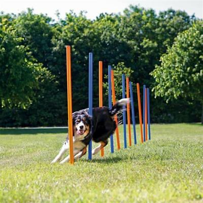 Trixie Dog-Activity Agility-Slalom Slalomstäbe 12 Stk 115 x Ø 3cm blau/orange