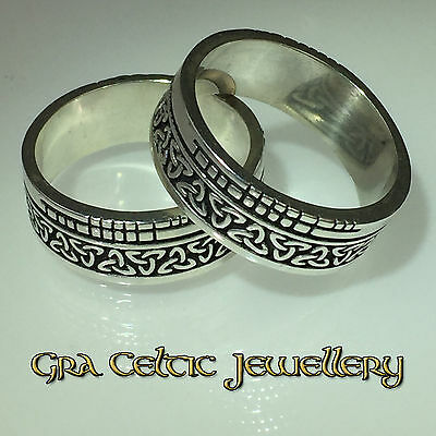 Sterling Silver Irish Trinity Faith Ring - With Ogham Language - MADE IN IRELAND