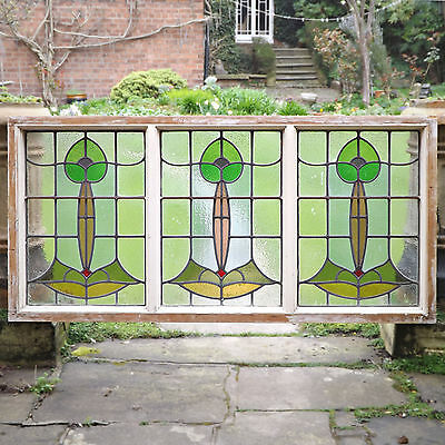 Stained Glass Panels - Art Nouveau, C1900 (delivery available)