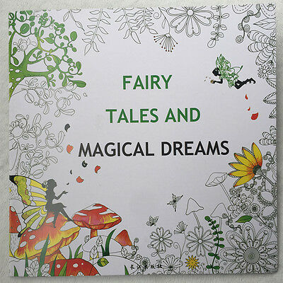 English Adult Secret Garden Fairy tales Treasure Hunt Coloring Painting Book