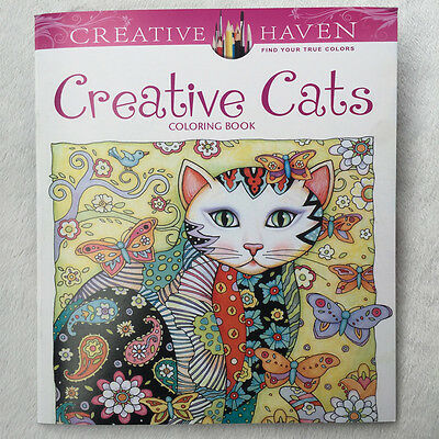 English Adult Secret Garden creative cats Treasure Hunt Coloring Book